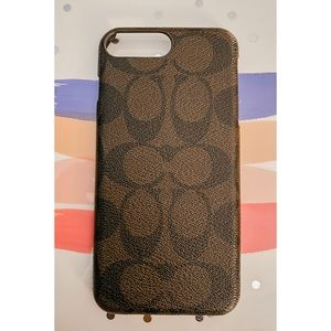 Coach Brown Leather iPhone Case